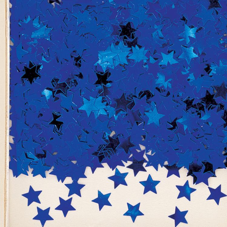 Konfetti Stjärna blå