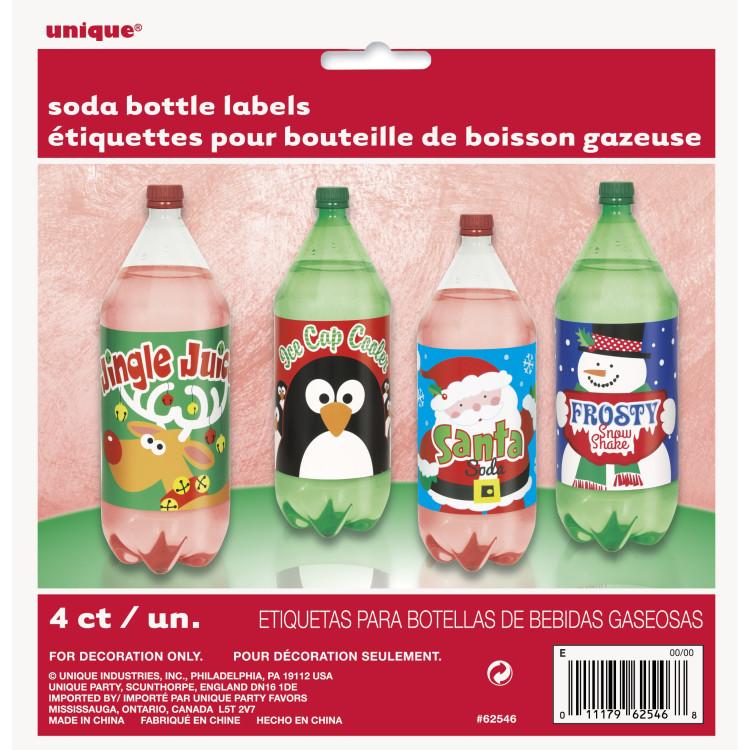 Juletiketter för julflaskor