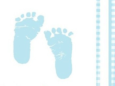 Baby Fötter Blå