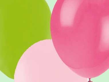 Färgkoordinerade ballonger