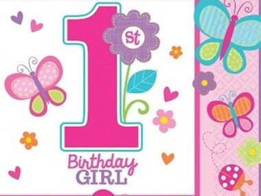 grattis på 1 årsdagen text Köp 1 års kalas för flicka hos Partytajm grattis på 1 årsdagen text